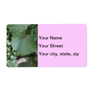 Green Grapes Growing Shipping Label