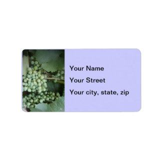 Green Grapes Growing Address Label