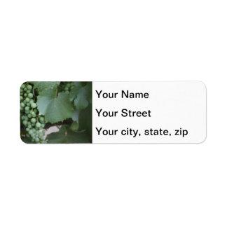 Green Grapes Growing Return Address Label