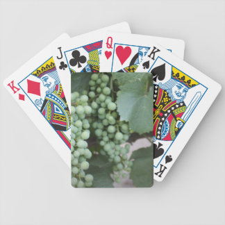 Green Grapes Growing Playing Cards