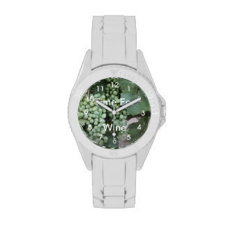 Green Grapes Growing Wristwatches