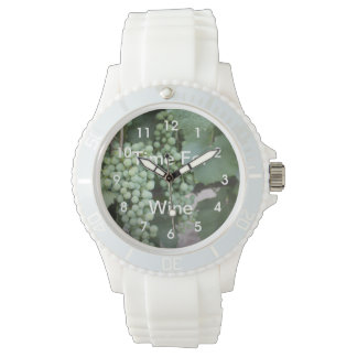Green Grapes Growing Wrist Watches