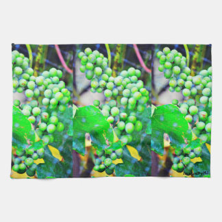 Green Grapes Kitchen Towel