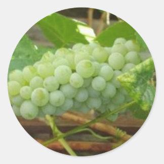 Green Grapes of California Classic Round Sticker