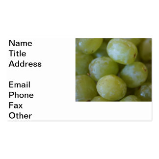 Green Grapes Pack Of Standard Business Cards
