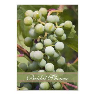 Green Grapes Vineyard Bridal Shower 13 Cm X 18 Cm Invitation Card