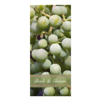 Green Grapes Vineyard Wedding Program 10 Cm X 23 Cm Rack Card