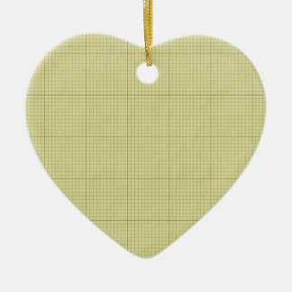 Green Graph Paper Christmas Ornament