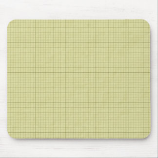 Green Graph Paper Mouse Pad