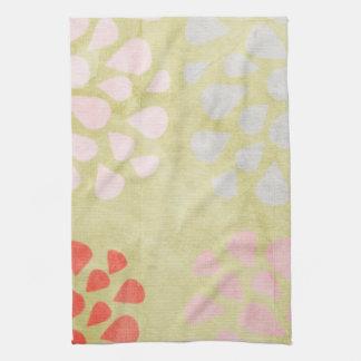 Green Graphic Floral Tea Towel