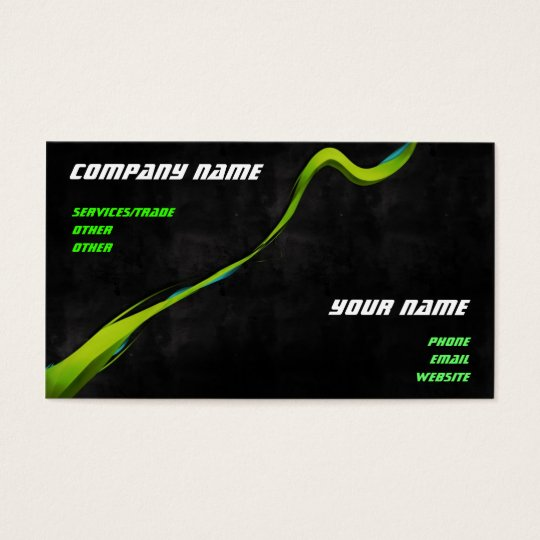 Green Graphics business card