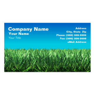 Green Grass Against Clear Blue Sky Business Card