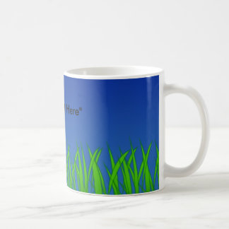 Green Grass Against Clear Blue Sky Coffee Mug