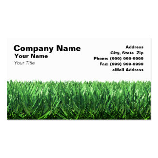 Green Grass Against White Background Business Cards