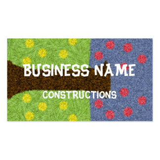 Green grass and blue tree pack of standard business cards