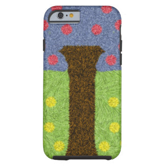 Green grass and blue tree tough iPhone 6 case