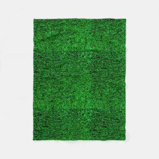 Green Grass Background Fleece Blanket