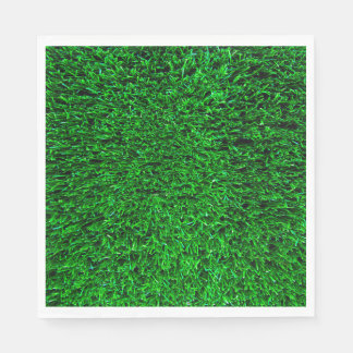 Green Grass Background Paper Napkin