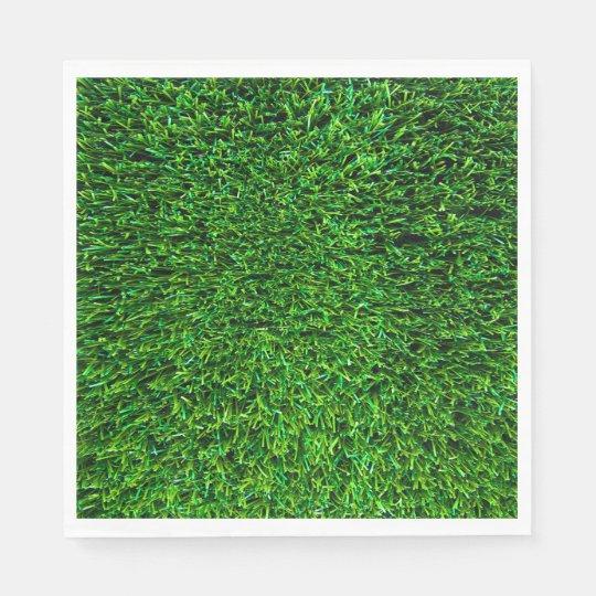 Green Grass Background Paper Napkin