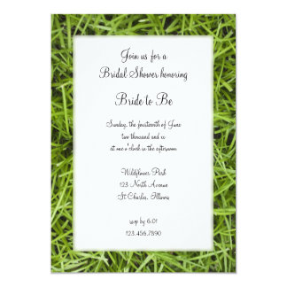 Green Grass Backyard Bridal Shower 13 Cm X 18 Cm Invitation Card