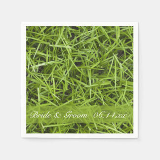Green Grass Backyard Wedding Paper Napkin