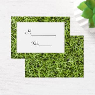 Green Grass Backyard Wedding Place Cards