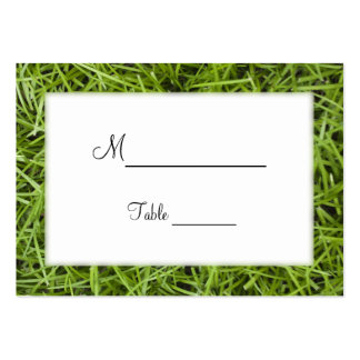 Green Grass Backyard Wedding Place Cards Pack Of Chubby Business Cards