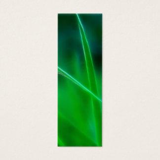 Green Grass Bookmark Mini Business Card