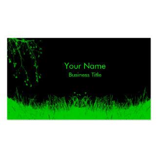 Green Grass Business Card Templates