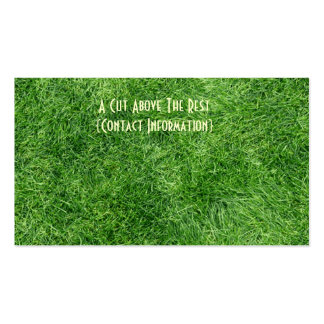 Green Grass Double-Sided Standard Business Cards (Pack Of 100)