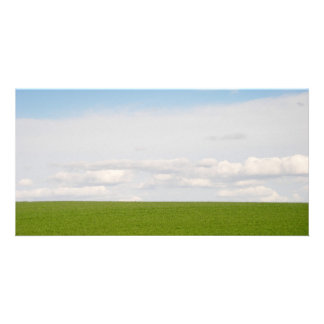 Green Grass Customised Photo Card