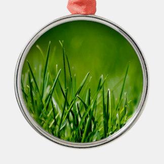 Green grass christmas tree ornaments