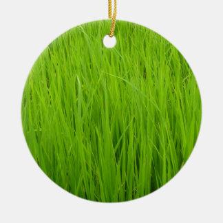 Green grass christmas ornaments