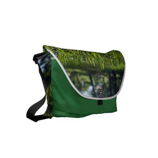 GReen Grass Field Messenger Bag Outside Print