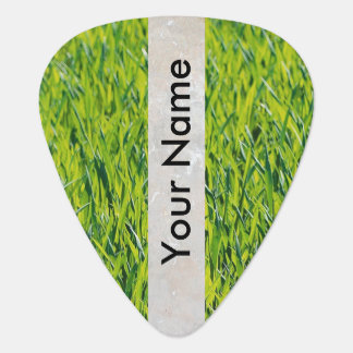green grass guitar pick