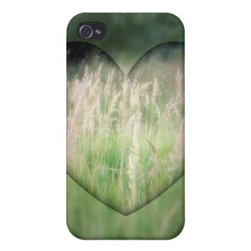Green Grass Heart iPhone 4 Covers
