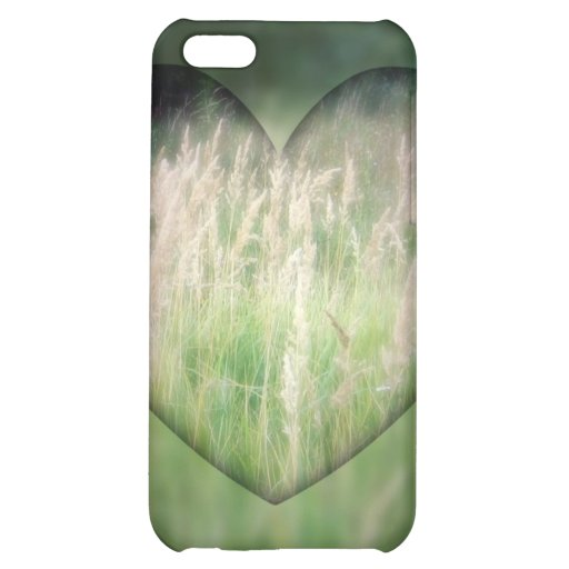 Green Grass Heart Case For iPhone 5C