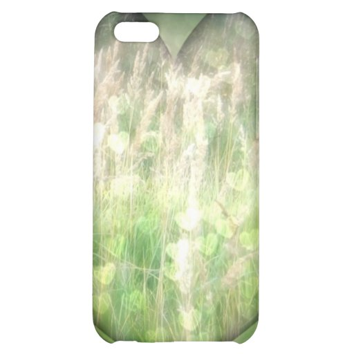 Green Grass Hearts iPhone 5C Covers