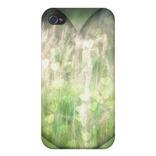 Green Grass Hearts iPhone 4/4S Cover