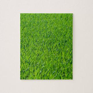 Green grass jigsaw puzzle
