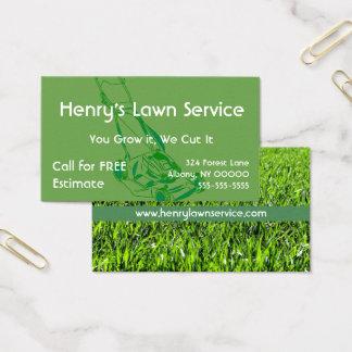 Green Grass Lawn Service Business Card