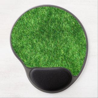 Green grass pattern gel mouse mat