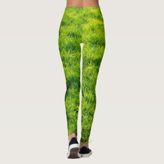 Green Grass Pattern Leggings
