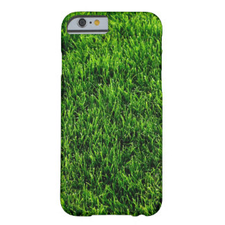 Green grass texture from a soccer field barely there iPhone 6 case