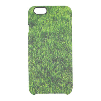 Green grass texture from a soccer field clear iPhone 6/6S case