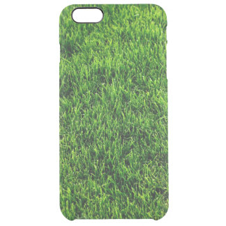 Green grass texture from a soccer field clear iPhone 6 plus case