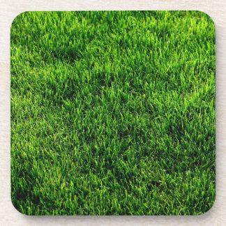 Green grass texture from a soccer field coaster