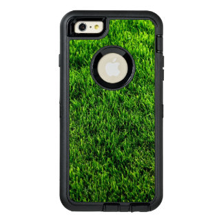 Green grass texture from a soccer field OtterBox defender iPhone case