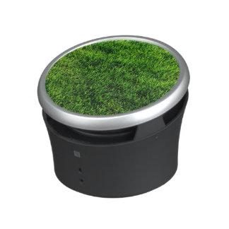 Green grass texture from a soccer field speaker
