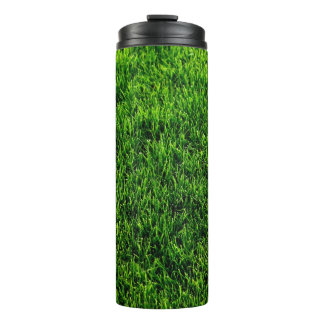 Green grass texture from a soccer field thermal tumbler